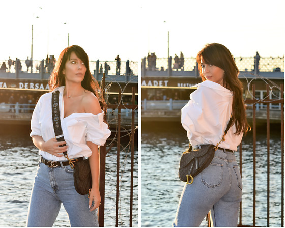Kaya Peters - Christian Dior Saddlebag, Off Shoulder Blouse - Istanbul