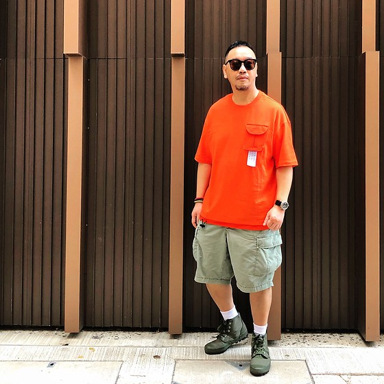 Mannix Lo - Pocket Tee, Uniqlo Cargo Shorts, Hi Top Trainers - Whatever I'm doing 10 years from now, I just hope I'm happy