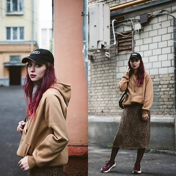 Valeria Chizhova - Zaful Hoodie, Thrifted Cheetah Midi Skirt - Cheetah in leraseyo.blogspot.com