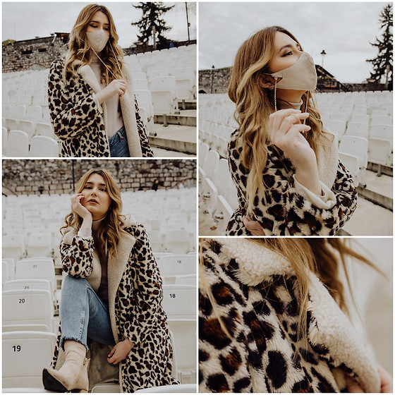 "Sofija Surdilovic - Shein Animal Print Teddy Coat - ""New normal"" classy"