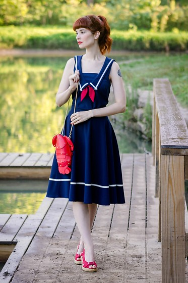 Bleu Avenue - Steady Clothing Stripe Skirt, Steady Clothing Sailor Romper - Nautical Improvisation