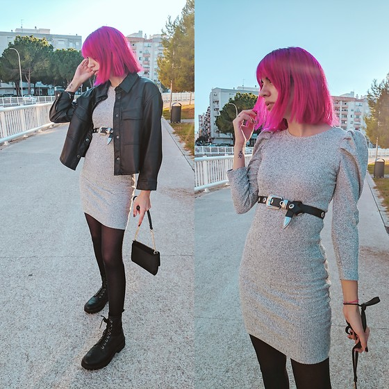 Cristina G. - Bershka Dress - Grey dress
