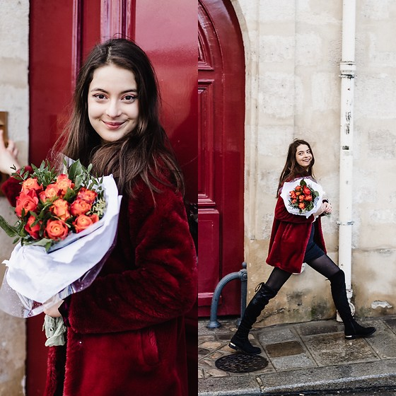 Nora Aradi - New Look Boots, Stradivarius Coat - Roses in Paris