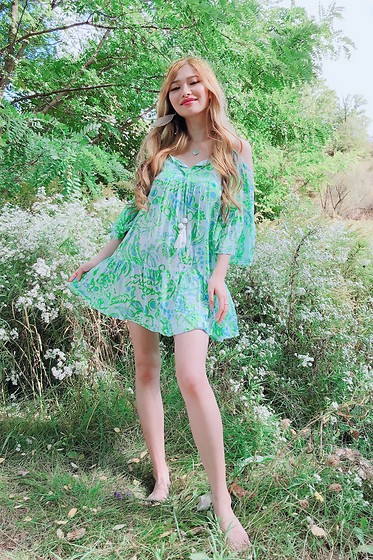 Shelly G - Lilly Pulitzer Green Dress - Green Floral Dress