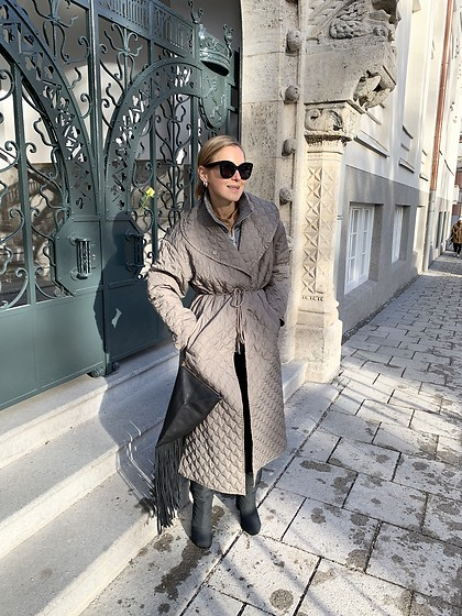 Anna Borisovna - Inwear Coat, Mango Bag, Céline Sunglasses, Stephen Venezia Boots - The grey Coat