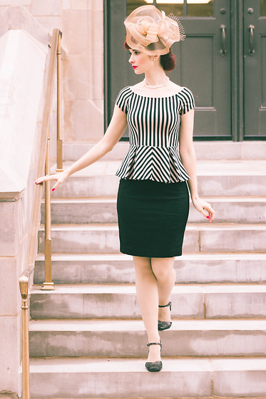 Bleu Avenue -  - Peplum & Stripes