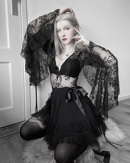 Joan Wolfie - Widow Source Of Magic Bodysuit, Widow Chaos Magic Skirt - SOURCE OF MAGIC // IG: @joanwolfie