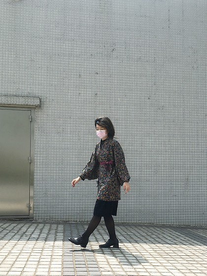 Flosmoony - Vintage Kimono Jacket, Aesop Taiwan Shoes - 2021/014 windy day