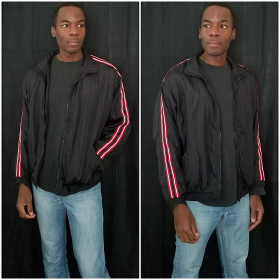 Thomas G - Solar Sporta Windbreaker Jacket, Levi's Denim Jeans - Windbreaker jacket | Denim jeans