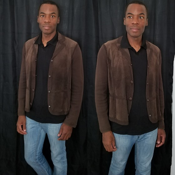 Thomas G -  - Suede jacket | Denim jeans