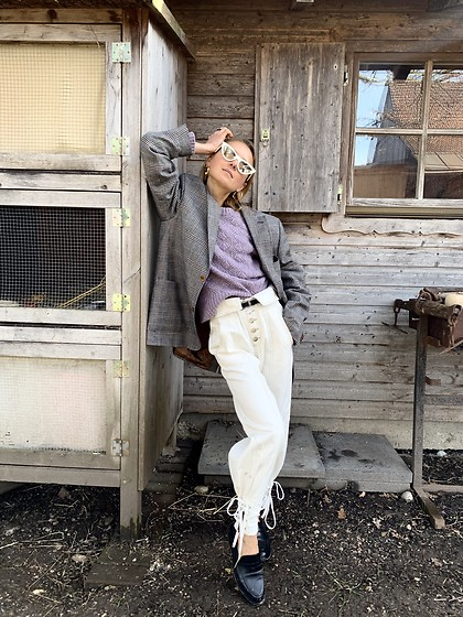 Anna Borisovna - Veronica Beard Sweater, Isabel Marant Pants, Vintage Jacket, Billi Bi Shoes - The Farm
