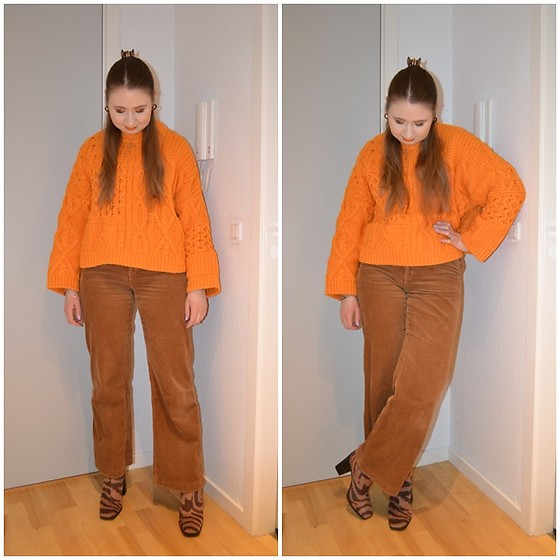 Mucha Lucha - H&M Jumper, H&M Trousers, Monki Boots - '70s colour combo