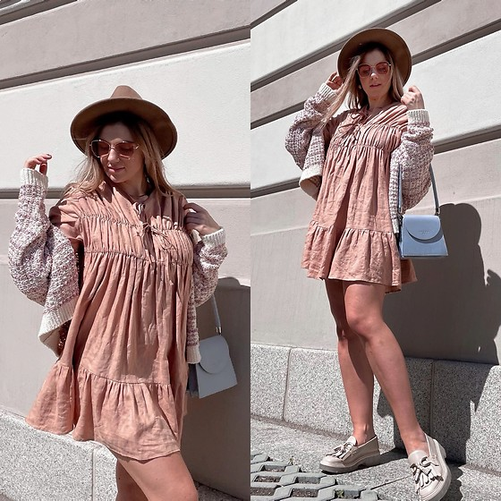 Zuza - La Gabrielle Dress, Zara Sweater, Uterque Shoes - Pink mode on