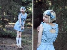Elin . - Monki Headband, Miss Patina Dress, H&M Knee Highs, Scorett Shoes - Polka party