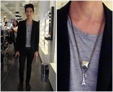 Chi Kotur - Forever 21 Jeans, Zara Shoes, Mono Stud Necklace, Mono Single Bullet Necklace, Gift Shop Eiffel Tower Necklace, H&M Gray Shirt, Zara Coat, Forever 21 Studded Belt - @ sephora