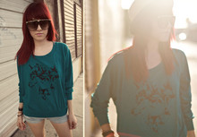 Monika ! - Urban Outfitters Fedora, Midnight Snackz Wolf Pack Pull Over Sweater, Floral Trim Sunglasses - Join the Wolf Pack
