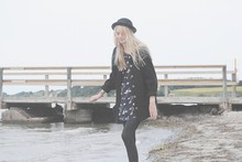 Evelina S. - H&M Hat, Second Hand Dress, Market Cardigan - You really got me