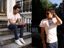 Filippo Fiora - Topman Anchor Necklace, Topman Blue Pants - London calling
