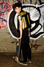 Douglas N - Jacket Limited Edition, Vans Sneakers, Diesel Jeans - Sk8r Boy Turned YELLOW