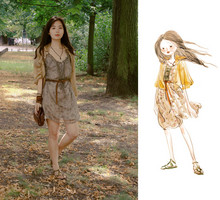 Nancy Zhang - Dsquared2 Shirt, Topshop Inside Dress, Cos Belt - Gold In The Air Of Summer.