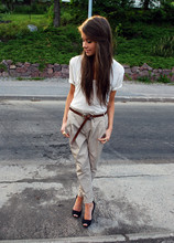 Marianna M - Acne Studios T Shirt, Zara Chinos, Zara Heels - Got them from my grandpa