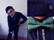 † Bửu Ngọc † - D&G Black Shirt, Black Skinny Jeans, Made In China Bowtie - New School Year ♥ Refresh myself