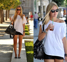 Chiara Ferragni - H&M Sequins Shorts - First day in Madrid, with sequins shorts