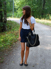 Marianna M - American Apparel Skirt, Zara Bag - We were never meant to be, baby we just happened