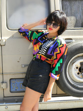 Melanie Likes - Vintage Blouse, Vintage Shorts - Wide Eyes