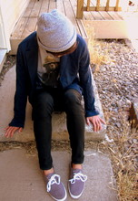 Cord Walsh - Neff Beanie, Urban Outfitters Smokey The Bear T, Urban Outfitters Shoes - Stay gold