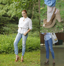 Marina Baranova - Old Navy Top, Levi's® Boyfriend's Jeans - It was a nice day at art gallery