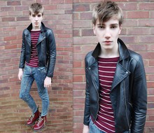 Jonathon Luke Baker - Not Sure Doc Martins, Charity Shop Leather, Ash Footwear Jeans - Brix