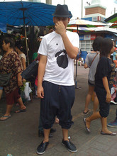 Radiz Sutthisoontorn - Aeion T Shirt, Jatujak Market Baggy Jeans, Siam Square Fedora, Puma Slip On - Day-off