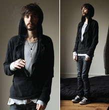 Tony Stone - ?? Strange Jumper, Marc By Jacobs Termal Longsleeves T Shirt - BLK/GRY : No option.