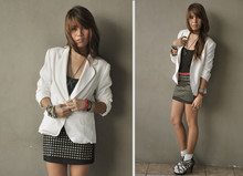 Cheyser Pedregosa - Loalde White Blazer, Dorothy Perkins Black Tank, Girl Scout :) Socks - TAKE ME THERE.