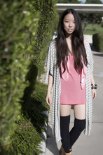 Tiffany Diane . - Something Else Scarf, Bb Dakota Tank, Minkpink Cardi, Fallon Cuff - Window-shopping