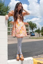 Tiffany Diane . - Prototype Vintage Dress, American Apparel Grey Thigh Highs, Jeffrey Campbell Foxy - Channeling Foxy Lolita