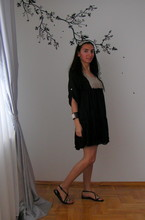 Siu . - Mango Bracelet, Massimo Dutti Dress - Black