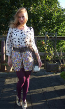 Victoria B - H&M Polka Dotted Blouse, H&M Flowery Short - Entree of little owl