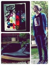 Jan S. - Selfmade T Shirt, H&M Jeans, Jack & Jones Shoes - I see colors all the time