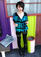 Pixie Love - Cheap Monday Studded Mondays, Retro Tie Dye Cropped Top - Flowers and silence