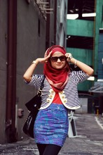Nurul Hidayati - Nautical Love Jacket, Casio Gold Vintage, Cotton On High Waist Skirt, Cotton On Shade - I try to stay awake and remember my name