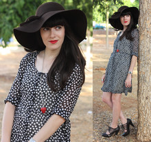 Fashion Pea - H&M Heart Printed Dress, Zara Shoes - Polka hearts