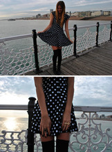 Jessica Stein - Vintage Polka Dot Dress - Brighton birthday xo