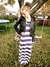 Agnes Erla - H&M Maxi Dress, H&M Leather Jacket, Vintage Shoes - Leaves are falling.