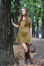 Pasqualina Rubini - Vintage Handmade Dress, Boots - Waiting for the autumn