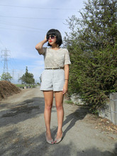 Melanie Likes - Vintage Shirt, Vintage Shorts, Vintage Shoes - Destroy