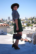 Cali Vintage - Vintage Hat, Liberty Vintage Blouse, Vintage Skirt, Dooney & Bourke Vintage Purse, Jeffrey Campbell Heels - Let's pretend