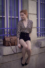 Eleonore Bridge - Topshop Pin Up Shorts, Vintage Bag - From Paris with ♥