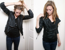 Leslie K - All Saints Leather Jacket, Citizens Of Humanity Jeans - Newwwleatherrrr